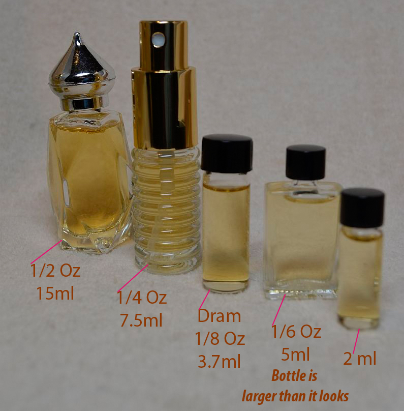 I know this topic is a little dry but I wanted to clear up any confusion that some of you may have regarding perfume bottle sizes. Perfumes are sold in a variety of bottle sizes which indicate the volume of fluid in the bottle, decant or vial of scent. They are typically measured in milliliters (ml) or ounces.