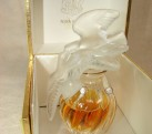 Vintage 1Oz Nina Ricci L'Air du Temps Parfum in 4″ Double Doves Lalique Bottle