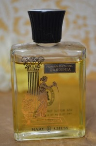 Mary Chess Gardenia Roman Bath Oil Sample Decant